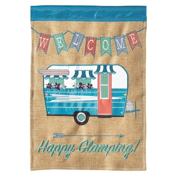 happy glamping-burlap