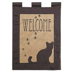 Welcom with Cat Garden Flag