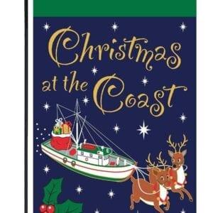 Christmas at the Coast Garden Flag