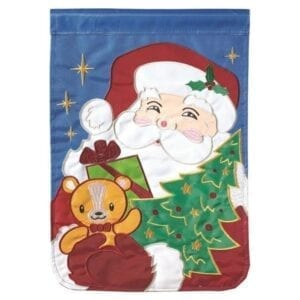 Santa with gifts garden flag