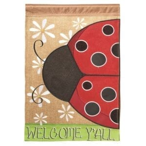 Welcome Y'All Ladybug Garden Flag