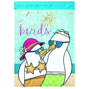 Snow Birds Garden Flag