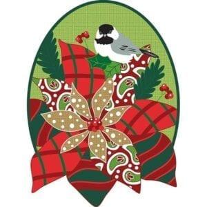 Poinsettia Door Banner on Burlap
